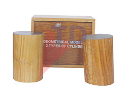GEOMETRICAL MODEL SET, 2 TYPES OF CYLINDERS