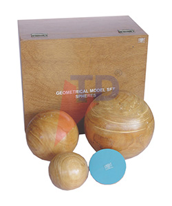 GEOMETRICAL MODEL SET, 4 TYPES OF SPHERES