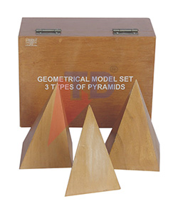GEOMETRICAL MODEL SET - 3 TYPES OF PYRAMIDS