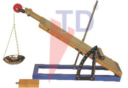 INCLINED PLANE WITH ANGLE MEASURER